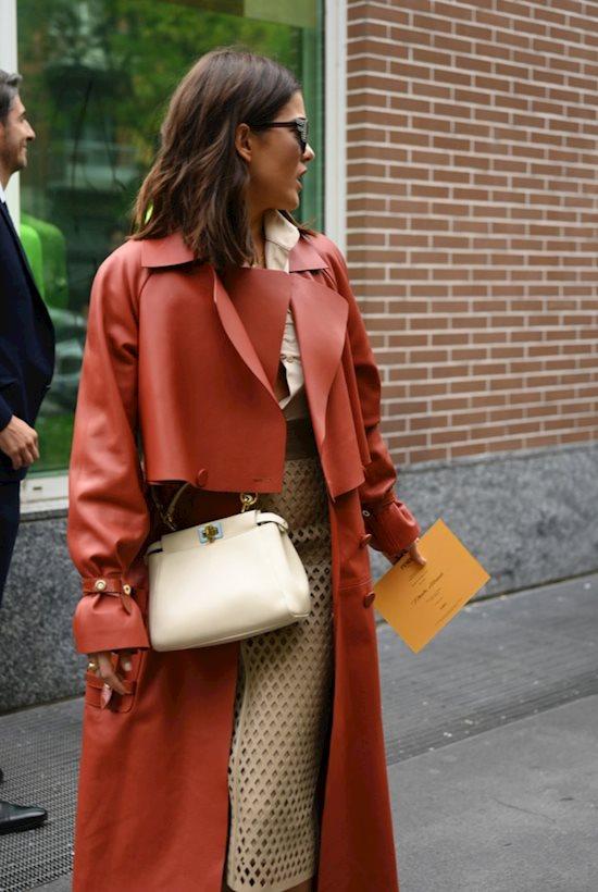 Модный образ в стиле Гламур leather coat