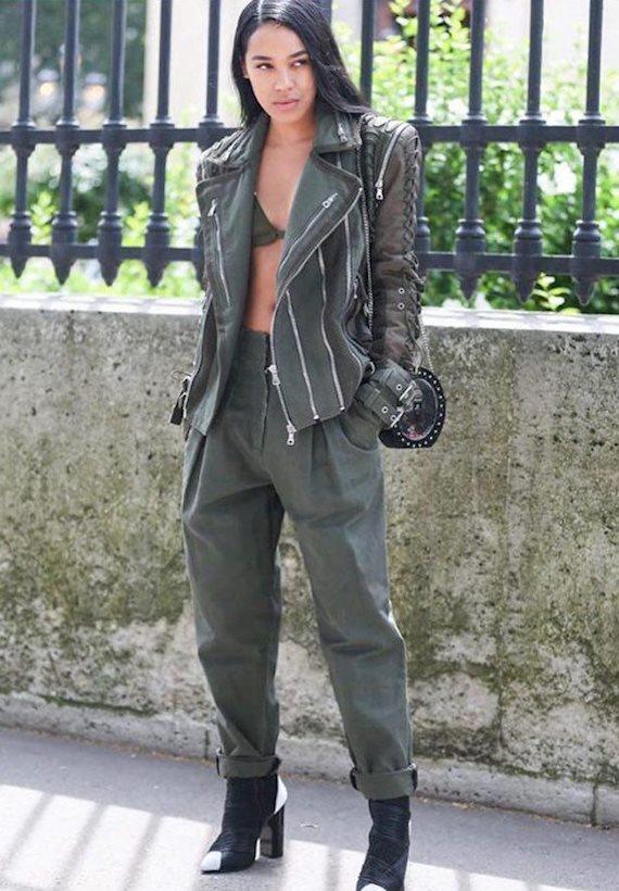 Модный образ в стиле милитари military