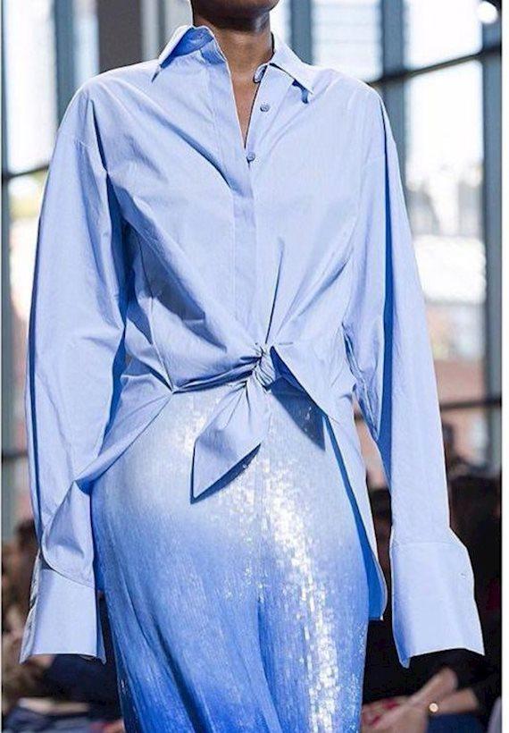 Модный образ в стиле минимализм blue