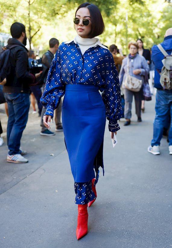 Модный образ в стиле гламур pencil skirt