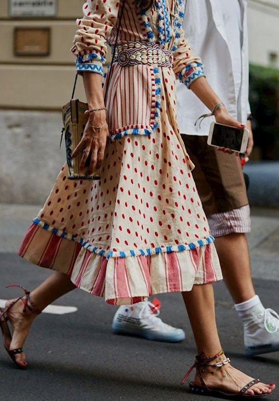 Модный образ в стиле Итальянский summer dress