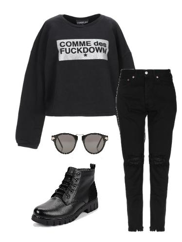 Цвет настроения черный - сеты модной одежды